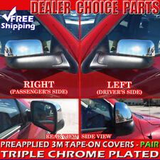 2002-2008 Dodge Ram 1500 03-09 2500 Triple Chrome Mirror Covers Overlays TOWING