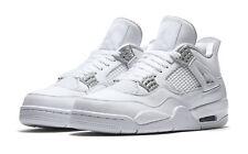 7308502618d Nike Air Jordan Retro IV 2017 Pure Money Silver Men s Basketball Shoes Size  10.5 - 308497