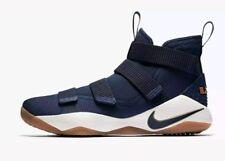 0e88301ef335 Nike Lebron James Soldier XI Navy Gold White Shoes Sz 12