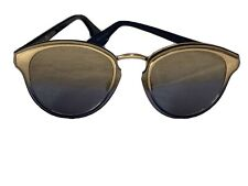 CHRISTIAN DIOR BLUE AND GOLD SUNGLASSES