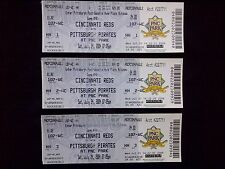 LOT OF 3 -- 2004 PITTSBURGH PIRATES BASEBALL TICKETS -- CINCINNATI REDS