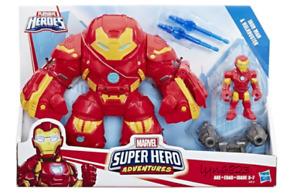 NEW Playskool Heroes MARVEL SUPER HERO ADVENTURES ~ IRON MAN & HULKBUSTER