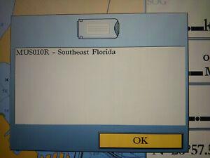 Garmin BlueChart Southeast Florida MUS010R Data Card Marine Chart JAN 2005