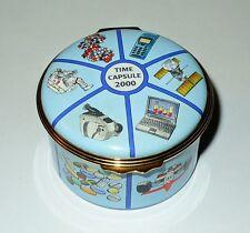 Halcyon Days English Enamel Box -Time Capsule 2000- Le 348/500 - Longfellow -Mib
