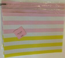 """Kate Spade New York """""""" Set of 4 placemats,striped multi- color,yellow,pink, poly"""