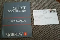 Windows/DOS Software MBasic Quest Bookkeeper User Manual book w MORROW computer