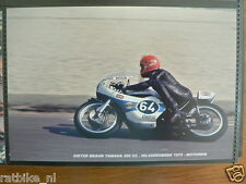 S0350-PHOTO-DIETER BRAUN YAMAHA 250 CC HILVARENBEEK 1973 NO 64 RENOLD CASTROL MO