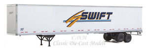 (2) 53' Stoughton Trailers SWIFT TRANSPORTATION HO 1/87 Scale Walthers 949-2457