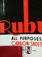 12 X A4 CARBON PAPER SHEETS HAND COPY   -RUBY-   RED