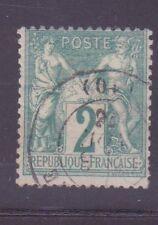 """FRANCE N°62 """" SAGE 2c VERT TYPE I """" OBLITERE TB"""
