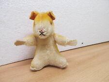 MES-33847Steiff Hamster mit Knopf H:ca.10,5cm,Mohair mit Holzwollstopfung,