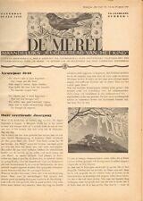 """JAARGANG DE MEREL 1940  (BIJBLAD """"HET KIND"""") - Mien Labberton (redactie)"""