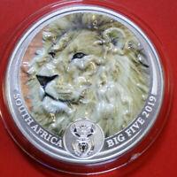 "Süd Afrika 5 Rand 2019 ""Lion"" ""The Big Five"" F#3900 Coloured extra rare"