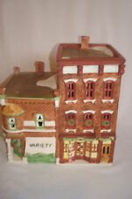 """Department 56 """"VARIETY STORE & BARBERSHOP"""" MIB 59722 Christmas in the City"""
