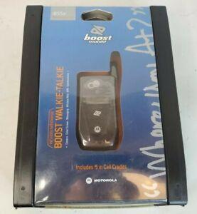 Motorola i series i855e Black (Boost Mobile) Cellular Phone NEW Sealed 2007 Flip
