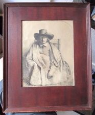 OLD RARE REMBRANDT ETCHING WITH COLLECTOR MARK ON BACK IN WOOD FRAME WOW!