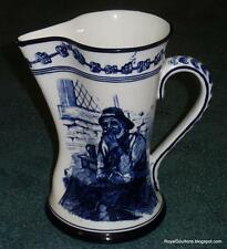 Antique Royal Doulton Flow Blue Morrisian Pitcher Old Salt By Walter Nunn D1979