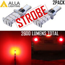Alla 48-LED 921 Legal STROBE Brake Light Bulb|Center High Third Stop|Tail,Red