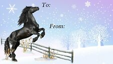 Horse Christmas Labels design by Starprint - Set of 42 self adhesive labels