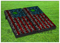 VINYL WRAPS Cornhole Boards DECALS Metal USA Flag Bag Toss Game Stickers 120