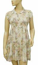 167072 New Denim & Supply Ralph Lauren Floral Printed Kimono Sheer Dress S