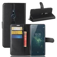 Sony Xperia XZ2 Coque de protection Housse Pochette Wallet Case Noir