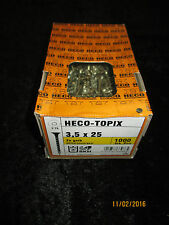 HECO Topix Holzschraube Konstruktions-Schraube 3,5x25 Senkkopf Spax gelb 1000stk