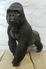 Large Standing Silverback Gorilla Ornament Walking Monkey Statue Figure Decor