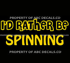 VRS ID RATHER BE CYCLING SPINNING Bike Indoor Hot Gym Spin CAR VINYL DECAL