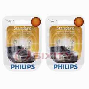 2 pc Philips Front Side Marker Light Bulbs for Ford Aspire Bronco Bronco II es