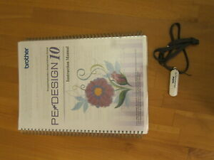 Brother PE Design 10 embroidery design software usb + manual