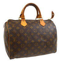 LOUIS VUITTON SPEEDY 30 HAND BAG PURSE MONOGRAM CANVAS M41526 TH0948 33399