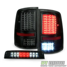 2009-2017 Dodge Ram 1500 2500 3500 Full LED Tail Lights+Smoke LED 3rd Brake Lamp