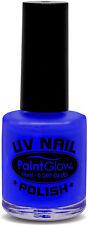 UV Neón Esmalte de uñas azul NUEVO - Estilo MAQUILLAJE CARNAVAL