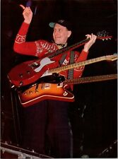 1979 Vintage 8X11 Magazine Color Photo Clipping Of Rick Nielsen Of Cheap Trick
