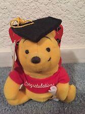 """Disney """"Congratulations"""" Graduation Mini Pooh Bear and Book"""