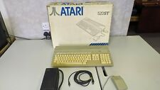 Early Atari 520 STm Boxed w/ inserts Tested Works Rare Vintage computer