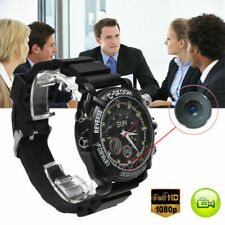 Portable 32GB 1080P Hidden Cam HD Waterproof SPY Watch Camera IR Night Vision