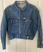 Georges Marciano for Guess 1980s Vintage Denim Size M Blue Jean Jacket Usa Women