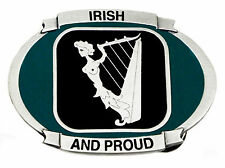Irish And Proud Belt Buckle Patriotic Ireland Harp Flag Official Branded Product