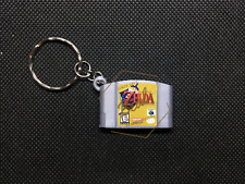 Zelda Ocarina Of Time  3D CARTRIDGE KEYCHAIN Nintendo 64 N64 collectible