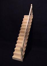 exclusive Treppe massives Naturholz 32 cm Stiege  Puppenstube alle Zimmer 1:12