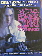 Kenny Wayne Shepherd, Ernie Ball Strings, Full Page Promotional Ad