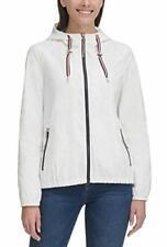 Tommy Hilfiger Womens Windbreaker Jacket (White, Small)