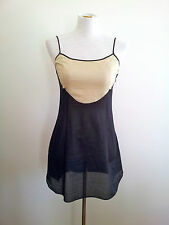 Hoss Intropia size 36 black & cream cotton blend sleeveless dress/top