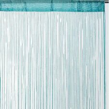 Rideau fils uni brillant - turquoise - Dimensions : 90x240cm