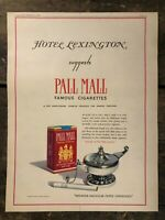 RARE Vintage 1940 Pall Mall Cigarettes AD HOTEL LEXINGTON NYC 11.5x15 Coloroto