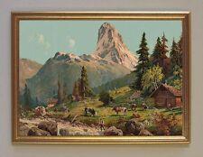Matterhorn suisse Alpes chromofaksimile sur papier papier kxz 12 en or