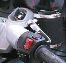 Leather Wrapped Cup Holder and Mount Kit for Can Am Spyder RT  (600 & CA400)