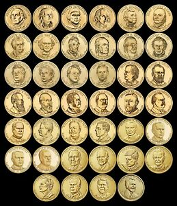 """COMPLETE Presidential Dollar Set """"Brilliant Uncirculated"""" US (40 Coins Total)"""